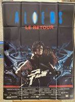 "ALIENS, ALIEN II , THE RETURN,RARE FRENCH EXTRA LARGE 61,5"" x 46"" 1986 POSTER"