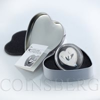 Republic of Palau 2 dollars My Heart Flies for You Heart Shaped Silver Coin 2012