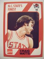 CRAIG WATTS 1991 NC STATE WOLFPACK basketball card Collegiate Collection #45 QTY