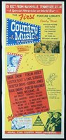 COUNTRY MUSIC ON BROADWAY Original Daybill Movie Poster Hank Williams.