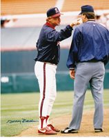 DOUG RADER CALIFORNIA ANGELS ACTION SIGNED 8x10