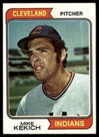 1974 Topps #199 Mike Kekich EX Excellent Cleveland Indians