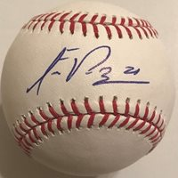 FRANKLIN PEREZ SIGNED RAWLINGS MLB MAJOR LEAGUE BASEBALL DETROIT TIGERS COA