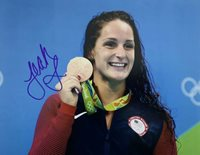 LEAH SMITH HAND SIGNED 8x10 PHOTO SWIMMING 2016 OLYMPICS AUTHENTIC RARE AUTO
