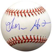 LaMarr Hoyt Autographed Official NL Baseball Chicago White Sox Beckett BAS #F26999LaMarr Hoyt Autographed Official NL Baseball Chicago White Sox Beckett BAS #F26999