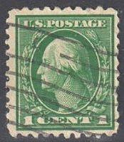 SC#462 - 1c George Washington Single Perf 10 Used (462-11)