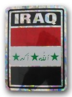 IRAQ PRISMATIC REFLECTIVE FLAG STICKER DECAL - NEW - FREE SHIPPING