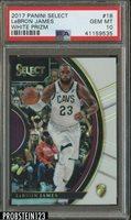 2017-18 Select White Prizm #18 LeBron James Cleveland Cavaliers 146/149 PSA 10