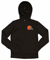 Outerstuff NFL Youth/Kids Cleveland Browns Performance Full Zip Hoodie