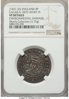 Great Britain: Henry VI (1st Reign, 1422-1461) Groat (4 Pence) ND (1431-1432/3) VF Details (Environmental Damage) NGC,...