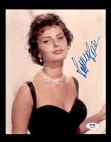 Sophia Loren PSA DNA Coa Hand Signed 8x10 Photo Certified Autograph