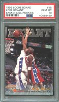 1996 score board basketball rookies #15 KOBE BRYANT lakers rookie card PSA 10