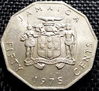 1975 Jamaica 50 Cents (1887-1940) Commemorative Coin (+FREE 1 coin)#D5783