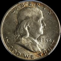 1954-D Franklin Half Dollar PCGS MS66 Nice Eye Appeal Nice Luster Nice Strike