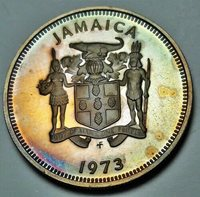 1973 JAMAICA 10 CENTS BU UNC COLOR TONES NICE!!!!!!!!!!!!!!!!!!!!!!!!!!!!!