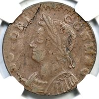 1786 4.1-G NGC XF 45 Connecticut Colonial Copper Coin