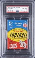 1965 Philadelphia Football Unopened Five-Cent Wax Pack - PSA NM-MT 8