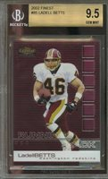 2002 finest #85 LADELL BETTS washington redskins rookie BGS 9.5 (9.5 9.5 9.5 10)