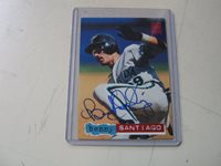 AUTOGRAPHED 1994 TOPPS STADIUM CLUB BENITO SANTIAGO MARLINS