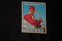 FRED WHITFIELD 1967 TOPPS SIGNED AUTOGRAPHED CARD #275 INDIANS