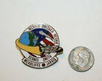 VTG McNair Onizuka Resnik Scobee Smith Mcauliffe Jarvis Space Shuttle Pin NASA