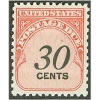 # J98 30¢ Postage Due, Shiny Gum