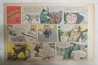 Hopalong Cassidy Sunday Page by Dan Spiegle from 2/22/1953 Size 7.5 x 10 inches