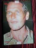 PAUL NEWMAN - MAGAZINE CLIPPING- ( CENTRESPREAD PICTURE ) PIN -UP