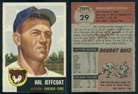 (49198) 1953 Topps 29 Hal Jeffcoat Cubs-EX+