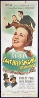 CAN'T HELP SINGING Original US Insert Movie Poster Deanna Durbin Robert Paige