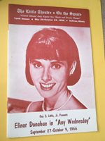 Sept. 27 - 1966 - The Little Theatre on the Square Program - Any Wednesday