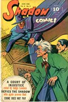 SHADOW COMICS v6 #3 1946, Court Room cover