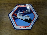 STS-6 SPACE SHUTTLE CHALLENGER NASA Astronaut Space Mission Sticker