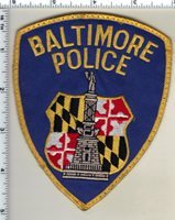 Baltimore Police (Maryland) uniform take-off shoulder patch from the 1980's
