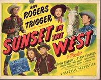 """Roy Rogers Sunset In The West Original 11x14"""" Lobby Card #M7512"""
