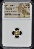 Greek Coinage Mytilene Lesbos El Hecte 478-455 BC NGC VF Star 5/5