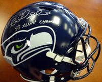 """Richard Sherman Autographed Seattle Seahawks Authentic Super Bowl Speed Full Size Helmet """"SB XLVIII Champs!"""" In Silver RS Holo Stock #72445Richard Sherman Autographed Seattle Seahawks Authentic Super Bowl Speed Full Size Helmet """"SB XLVIII Champs!"""" In Silver RS Holo Stock #72445"""
