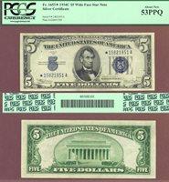 1934-C $5 FR-1653W* *STAR* Wide