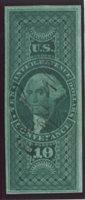 Scott R94a 1862-71 $10 Conveyance, green VF