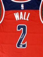 Washington Wizards John Wall Autographed Red Nike Swingman Jersey Size L Beckett BAS Stock #182250Washington Wizards John Wall Autographed Red Nike Swingman Jersey Size L Beckett BAS Stock #182250