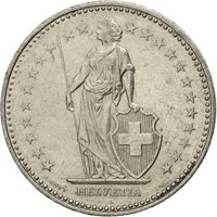 Suisse, Confédération Helvétique, 1 Franc 1992 B, KM 24a.3