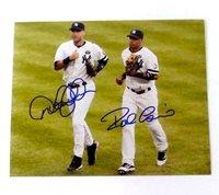 Derek Jeter & Robinson Cano Autographed 8x10 Photograph