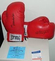 Muhammad Ali Joe Frazier Signed Boxing Glove Set Of Two Online Authentics Oa - PSA/DNA Certified - Autographed Boxing Gloves