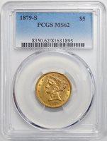 1879-S PCGS MS62 LIBERTY HEAD GOLD