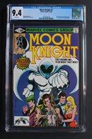 MOON KNIGHT #1 1980, Origin of Moon Knight; 1st appearance of Raoul Bushman; Bill Sienkiewicz cover and art