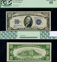 FR. 1702 $10 1934-A Silver Certificate Non-Mule A-A Block Choice PCGS AU55