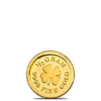 1/2 gram Gold Rounds Monarch Lucky Clover (0.016 troy oz) .9999 Fine 24kt (in Capsule)