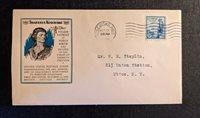 1933 Thaddeus Kosciusko MS FDC 734 5 Airmail Cover to Utica NY