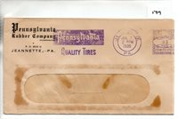 United States (149) Meter Mail 1938 - Pennsylvania Rubber Co - pmk Jeannette PA