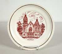 Vintage Collector Plate St. John's Lutheran Church Watertown Wisconsin 1952